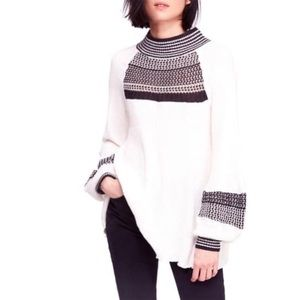Free People Snow Day Balloon Sleeve Sweater XS
